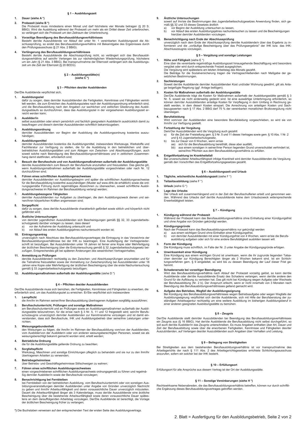 Ausbildungsvertrag Muster Fur Arbeitsvertrag Zum Download
